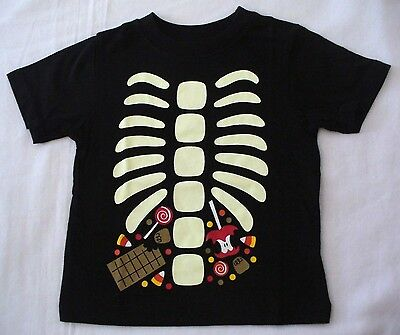 The Children's Place 9-12 or 12-18 months Halloween Skeleton Candy Shirt New