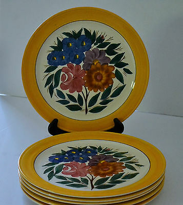 California Pottery Vernon Kilns Gale Turnbull Set Of 6 Plates 707 Pattern