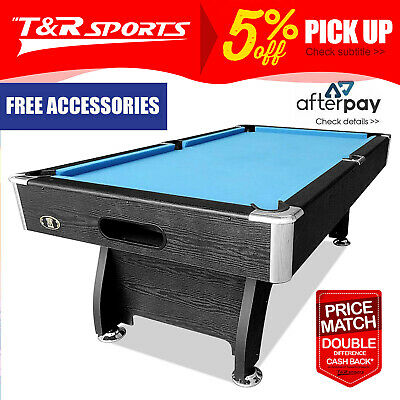 8Ft Modern Design Blue Pool Table Snooker Billiards Table Full Accessory Kit