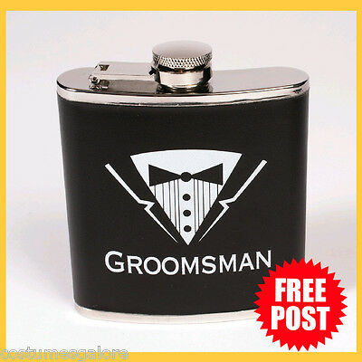 Mens Fancy Dress Up Costume Accessories RD Groom Bachelor Party Groomsman Flask