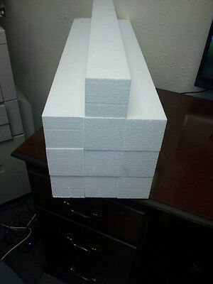 10 StyroFoam Shipping & Packing Blocks 30x3x3--High Quality 2LB Dense Foam--New!