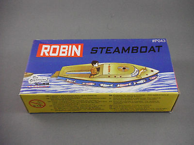 Tin Toy -  Robin Boat Steam Candle Powered