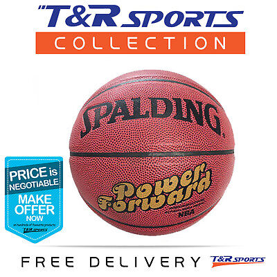 Size 7 Spalding Power Forward Leather Basketball Game Ball Free Delivery