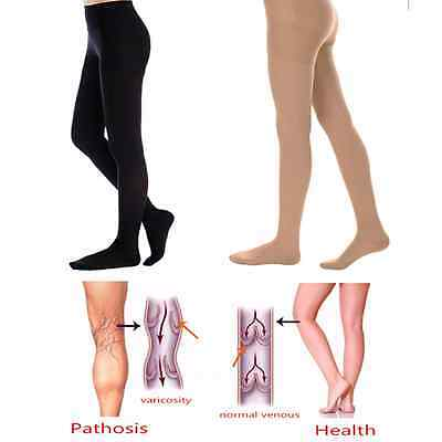 Sheer Firm Support Pantyhose Compression Stocking Therapeutic Long 20-30mmHg