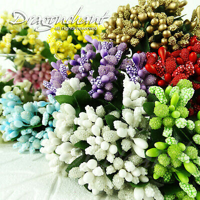 Dragonchant Mini Bouquet Artificial Flower Stamen Wedding Millinery Sugarcraft