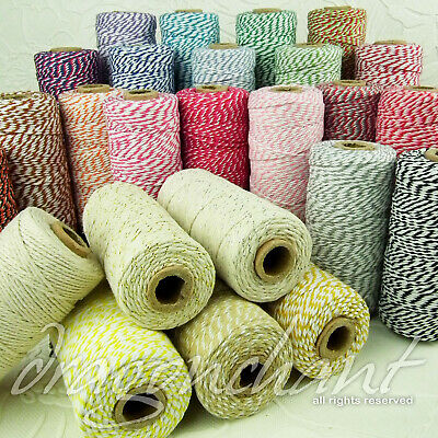 12ply Cotton Bakers Twine 10M (& Other Lengths) 2mm String in 25 divine colours