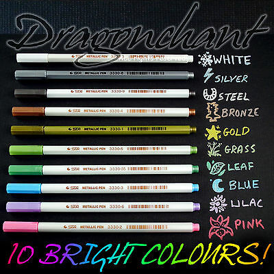 Metallic Marker Felt Tip Pen Gold Silver White Pink Card Making Craft Scrapbook