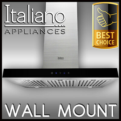 WALL MOUNT - RANGE HOOD 90cm 900mm STAINLESS STEEL CANOPY ALFRESCO RANGEHOOD C2