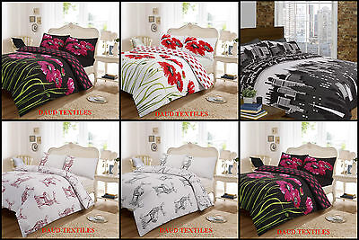Elegant & Stylish Poly-Cotton Duvet Cover & Pillow Case 68 Pick Fabric Bedding