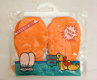 2 Pair Newborn Baby Mitts Anti Scratch Mittens 100% Cotton Boys Girls 1 Size New