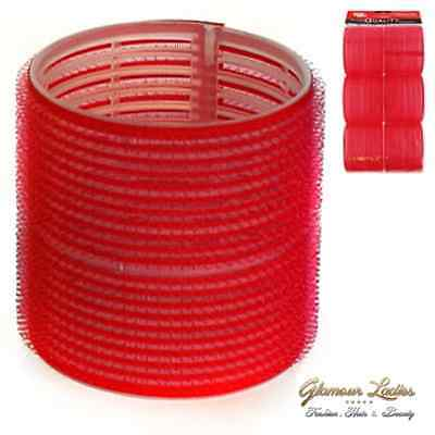 Professional Cling Hair Rollers Red 6 x 70mm Super Jumbo, Hair tools