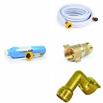 RV Freshwater Kit  - Water Hose, Filter, Brass Elbow, Brass Pressure Reducer