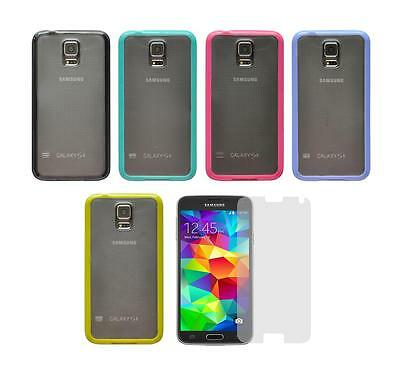 Matte Skin Cover Case and Screen Protector for Samsung Galaxy S5 SM-G900