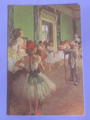 New Postcard Reproduction of Famous Ballet Dancer Class Painting Pastels #3 85