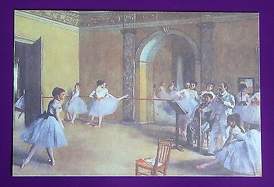 New Postcard Reproduction of Famous Ballet Dancer Class Painting Pastels #2 85