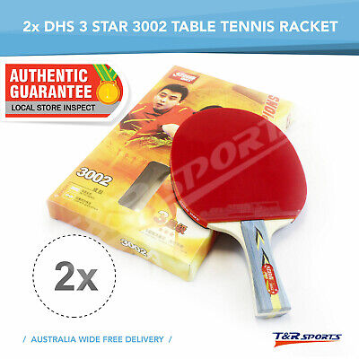 2 x DHS 3002 3 Star Table Tennis Rackets Ping Pong Paddle Shakehand Long Handle
