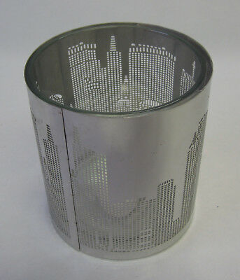 Tea Light Candle Holder French Provincial Style City Buildings Skyscrapers