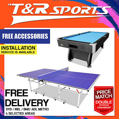 Game Room Package 16mm Table Tennis + 7FT MDF Pool Table AU