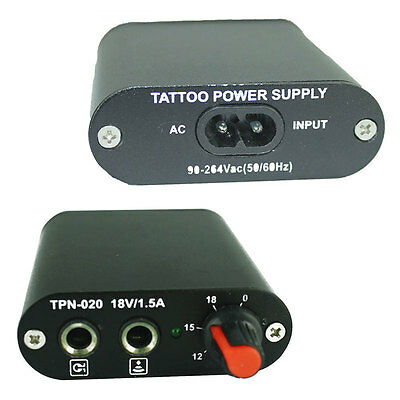 Professional Black Mini Tattoo Power Supply For Needle Machine Kit Stability
