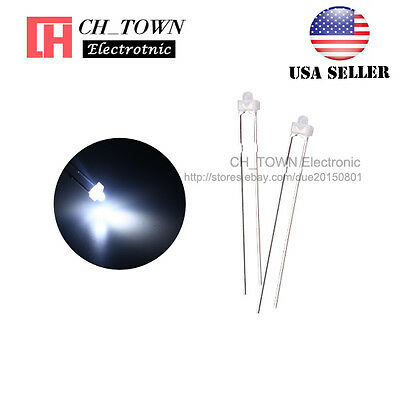 100pcs 1.8mm Diffused White Color White Light LED Diodes DIP High Quality USA