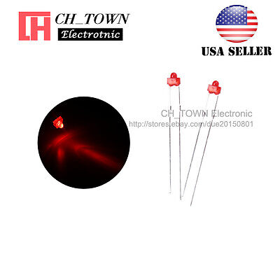 100pcs 1.8mm Diffused Red Color Red Light LED Diodes DIP High Quality USA