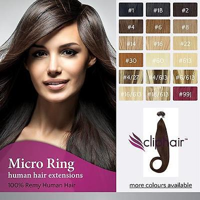 3A Grade Remy Indian Micro loops/ Micro Beads/ Micro rings Human hair Extensions