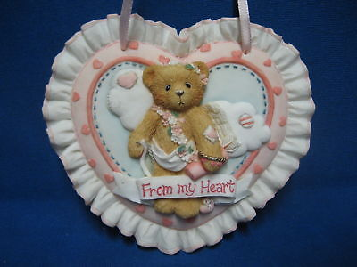 Cherished Teddies From My Heart Valentines Day Love Plaque Wall Hanging Bear