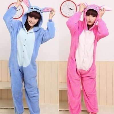 Unisex Adult Kigurumi Pajamas Anime Cosplay Costume Onesie Sleepwear Stitch
