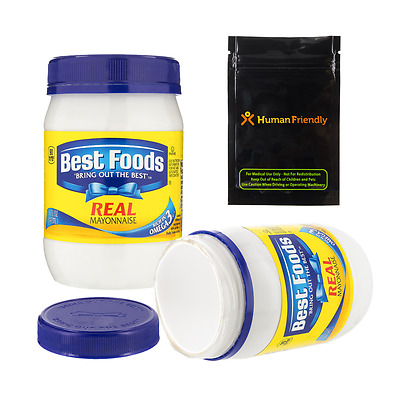 Best Foods Mayonnaise Diversion Safe Stash 16 oz w FREE Smell Proof Bag +Shippng