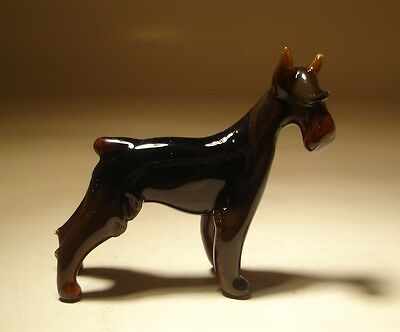 "Blown Glass ""Murano"" Figurine Dog SCHNAUZER"