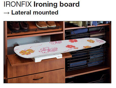 Ironfix Lateral Ironing Board - space saving solution in your Laundry or Kitchen