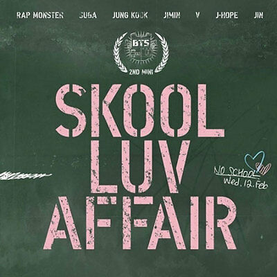 BTS-[SKOOL LUV AFFAIR] 2nd Mini Album CD+115p PhotoBook+Card+Gift+Tracking K-POP