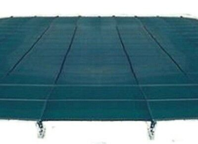 Merlin 3MEGR 16'x32' Winter In-Ground Pool Mesh Safety Cover - Green 3M-E-GR
