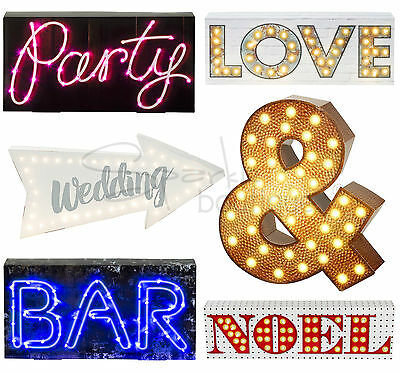 LIGHT UP SIGNS - Wedding / Party Decoration - Neon Style LED - Battery Powered