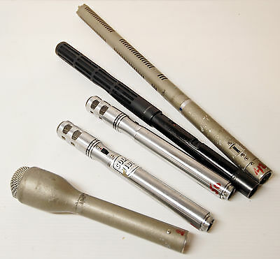 MICROPHONES de table -  LOT DE 5 MICROS TUBES -  RARE & COLLECTOR
