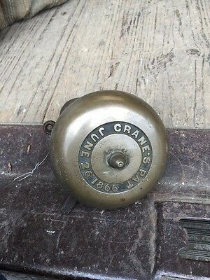 Antique Brass Doorbell Cranes Patented June 26, 1866