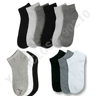 Men 10-13 Women 9-11 Sports Socks Crew Ankle Socks Low Cut Socks Lot 3-6-12P