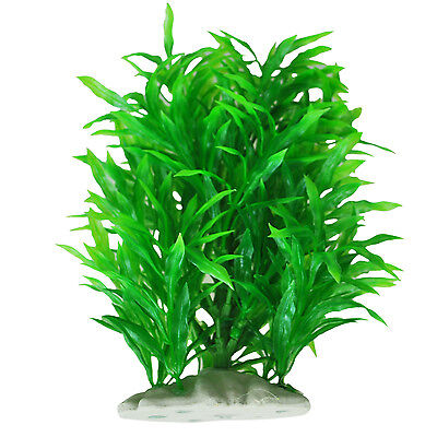Artificial Water Plant Decoration for Fish Tank, Green N*