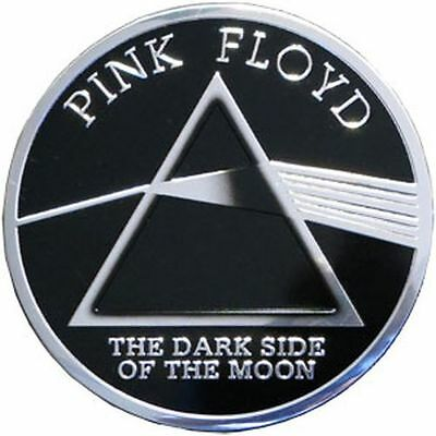 PINK FLOYD - DARK SIDE LOGO - METAL STICKER 3 x 3 - BRAND NEW - CAR DECAL 7613