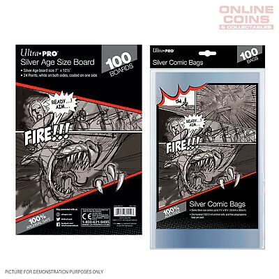 BUNDLE! Ultra Pro Comic Series - SILVER Size Comic Bags & Backing Boards x 100