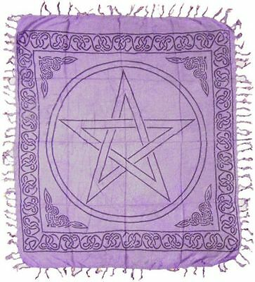 PENTAGRAM Pentacle ALTAR CLOTH 36 x 36 inch Purple Wiccan Witch Pagan FREE SHIP