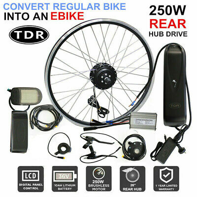 "350W Rear Hub 26"" Wheel 36V EBike Motor E-Bicycle Electric Bike Conversion Kit"