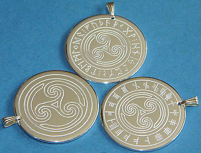 Amulet Triskele silver plated