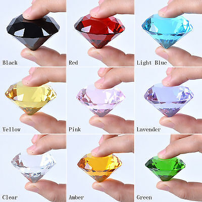 40mm Crystal Diamond Ornament Paperweight Wedding Venue Table Decoration Gift