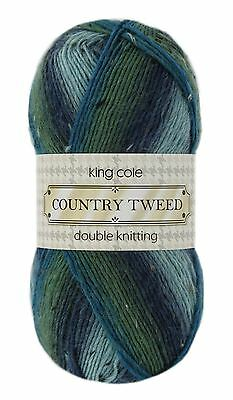 King Cole Country Tweed Striped Acrylic / Wool Knitting Wool Yarn 100g