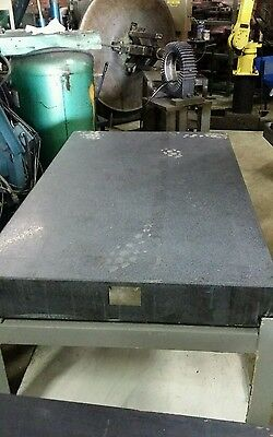 Granite Surface Plate With Heavy Metal Stand 3Ft X 5Ft.