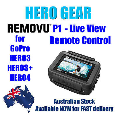 Removu P1 - Live View Remote Control for use with GoPro HERO3/HERO3+/HERO4