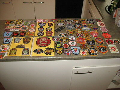 Vintage 71 Patches & 7 Decals Fire Dept Fireman Firefighter Variety Lot