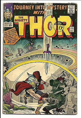 Journey Into Mystery # 111 (Kirby Thor, Dec 1964), Vg