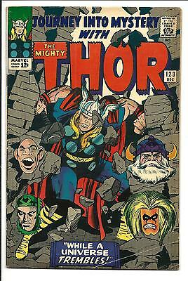 Journey Into Mystery # 123 (Kirby Thor, Dec 1965), Vg/fn